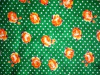 昭和レトロ生地 ロシア風小花 92巾×275㎝ カットクロス布端切れ 【キズあり】