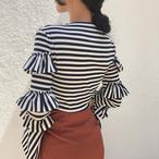 striped slim sweater 3102