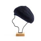 mature ha./paper linen braid denim beret/indigo