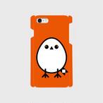 《癒やしの小鳥》シマエナガのオリジナルスマホケース(orange)【送料無料】