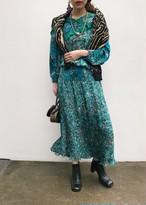 Diane freis black × green floral dress( ダイアン フレイス グリーン ワンピース )