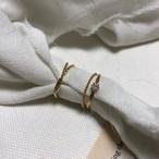 ツイストリング2Set 指輪 リング 韓国ファッション