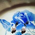 一粒が美しい淡水パールピアス