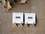 【000 トリプル・オゥ】Lattice triangleピアス[ER012]