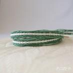 正絹 夏の帯締め 岩緑青