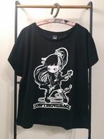 """MIKAZUKI / ミカヅキ """"DON'T MOVE BACK"""" ドルマン Tシャツ ブラック[DT-003]"""