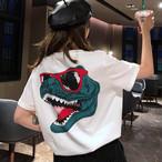 【tops】動物プリントファッションカジュアルプリントTシャツ