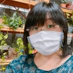 布マスク 見た目は白マスク。でも端がちょっとオシャレ。接触冷感&UVカット 汗を吸収、速乾、ニオイを消臭