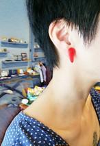 Blood イヤリング&ピアス(小)/ Blood earrings (mini)