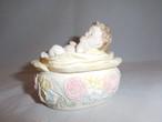 エンゼル小物入れ porcelain box with cover(angel)