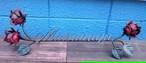 ☆<受注製作>☆送料無料☆サイズ・カラー変更OK☆ロートアイアン☆薔薇の表札A☆<ブラック>