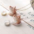 【Animal Haed】オオカミとクリスタルガラスのネックレス
