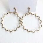 spiral circle earring[e-1172]