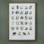 アート ポスター B2 サイズ KOUSTRUP & CO. - Alphabet with Nordic plants and animals アルファベットと北欧の動植物