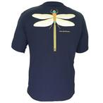 P818TSM01 吸水速乾 UV メンズプリントTシャツ (ネイビー)