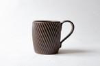 【増田 哲士】しのぎ マグカップ(茶)