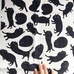 【予約販売・送料無料】spicanoniwa・黒猫のLEON コットンリネン/150cm幅