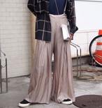 【hippiness】cupro suspender pants(beige)/ 【ヒッピネス】キュプラ サスペンダー パンツ (ベージュ)