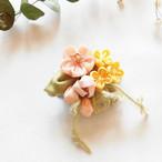 ※期間限定4/14まで【*Hanairo】桜と菜の花のブローチ・小