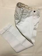 再入荷! 透けないお洒落な白パンツ!メンズ ストレッチピケ素材 日本製トラウザーズ  ホワイト