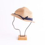 mature ha./BOXED HAT 102 mixbrown×navy