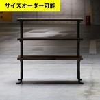 IRON BAR 3-SHELF 100CM[BROWN COLOR]サイズオーダー可