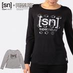 【20%OFF】[sn] super.natural スーパーナチュラル ウィメンズ/レディース W Classic Many Snoopy x SN logo LS レディース 長袖 スヌーピー [sn]ロゴTシャツ メリノウール K25(シルバーグレイ) I10(ジェットブラックメランジ) SNWJ00012