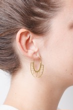 ◇STATE OF A◇ Earring Creole lasered (Item No. 11727)
