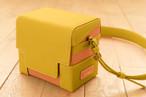 レザーカメラバッグ【 レモン×オレンジ】| セミオーダー対応