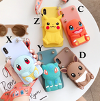 ポーチ付き Cute iphone galaxy case