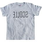 SENA プリント半袖Tシャツ(グレー×ブラック)