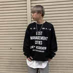 【即納】韓国ファッション LMC.DOCUMENT OVERSIZED SWEAT SHIRT