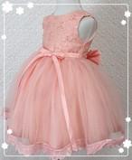 【送料無料】ピンク色★ビジュー&リボン付き ふんわり ドレス