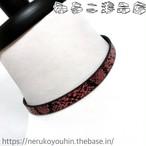 【金アレ対応】シンプルなパイソン柄チョーカー(1cm) レッド