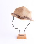 mature ha./BOXED HAT 102 mixbrown×light brown