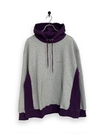 Original Hooded Sweatshirt / 2tone / gray × purple
