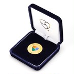 [限定] 純銀NEMゴールド・七宝入り / Pure Silver XEM coin Gold with Cloisonne