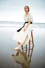 Puff sleeve long dress ( ecru )