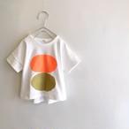 オレンジとゴールドカラーのサークルTシャツ☆