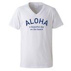 【予約販売:8月上旬発送】ALOHA Tee - White/Blue