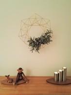 1年中飾れる真鍮製のヒンメリリース*お花付き*Lサイズ(33cm)