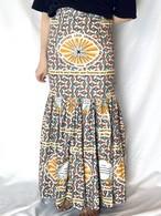 Vintage Long Skirt _02(ヴィンテージ アフリカンバティック マキシロングスカート)