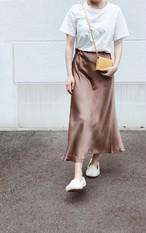 【即納】MERMAID LINE | マーメイドラインスカート | ブラウン