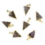[天然石 パーツ]ドゥルージーアメジスト1カン付プチケーキ 1個 D0205