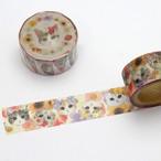 【とことこサーカス】マスキングテープ「fleurs&chats-flower」【ST-MT-18】