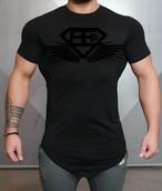 BODY ENGINEERS ボディエンジニア Engineered Life Prometheus 2.0 Tシャツ – 黒×黒【Black on Black】 メーカー直輸入品!