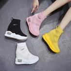 【shoes】ファッションハイヒール丸トゥブーツ22619217