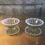 アイスクリーム皿&トレー2組セット古代色