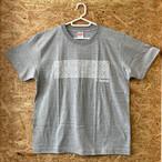 花ブロック Tシャツ(ライトグレー)