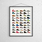 【Nike Dunks】スニーカーポスター:ダンク シリーズ / 11x14サイズ:27.94cm x 35.56cm